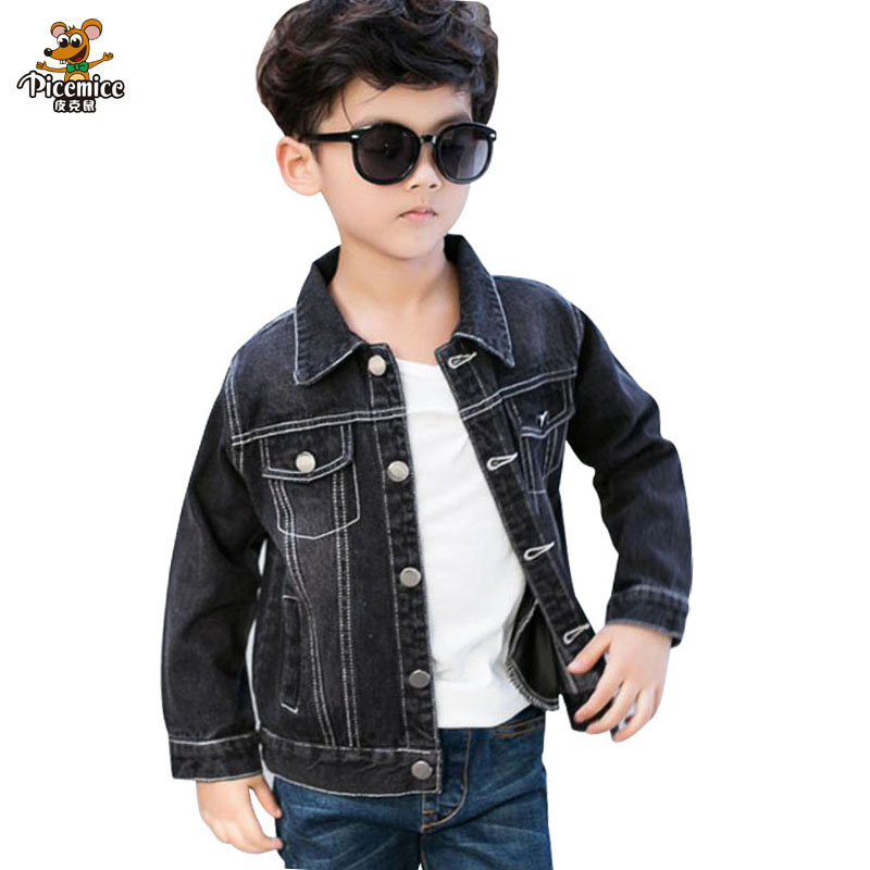 Kids Girls Black Denim Designer Style Jackets Fashion Jeans Jacket Coats 3-13Yrs