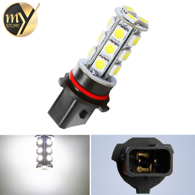 P13W 18 SMD 5050 Pure White DRL Fog LED Car Bulb Lamp Auto led bulb Car Light Source parking 12V 6000K Head Lamps new arrival a pair 10w pure white 5630 3 smd led eagle eye lamp car back up daytime running fog light bulb 120lumen 18mm dc12v