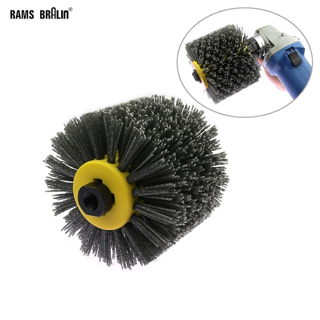 Angle Grinder Abrasive Wire Nylon Brushes P80 Deburring Polishing Buffing Wheel for Furniture Wood