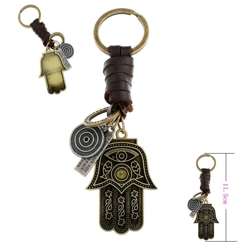 21d0031f698f6 1 Pcs Antik Bronz Metal Balta Hamsa El Fatima Göz Anahtarlıklar anahtar  zincirleri Tutucu Çanta Çanta Için Araba Hediye Takı