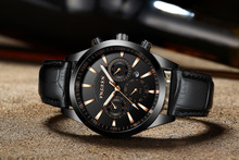 FNGEEN Sports Watch Men Quartz Wristwatch Leather Band Male Clock Wrist Shockproof Waterproof Relogio Masculino Hodinky  Clock