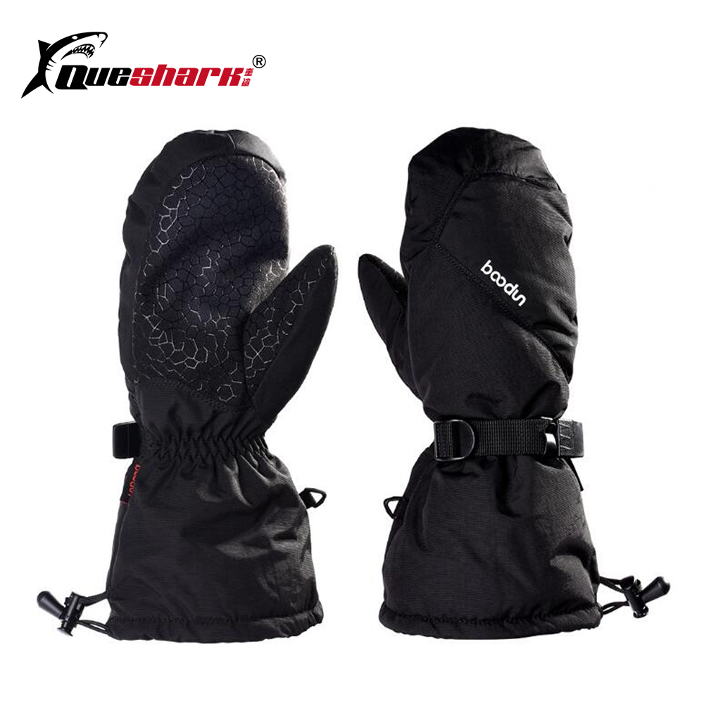 Men Women Adjustable Long Wrist Warm Ski Gloves Windproof Snowmobile Snowboard Gloves Waterproof Thermal Skiing Gloves