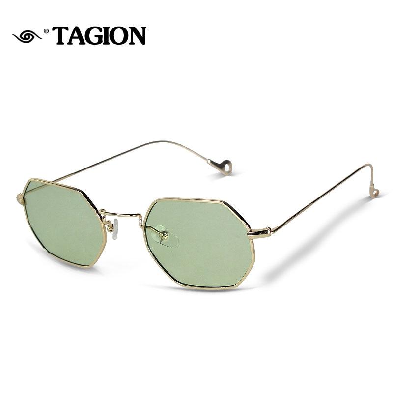416fc11c4b Best buy TAGION Women Sunglasses Fashion Female Retro Sunglasses Men Gold  Metal Sun Glasses Clear Candy Color Eyewear Oculos 8102 online cheap