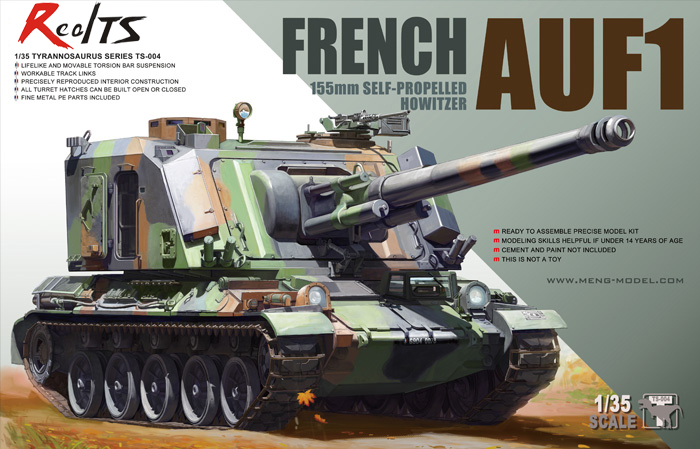 MENG Model 1 35 TS004 TS 004 FRENCH AUF1 155mm SELF PROPELLED HOWITZER