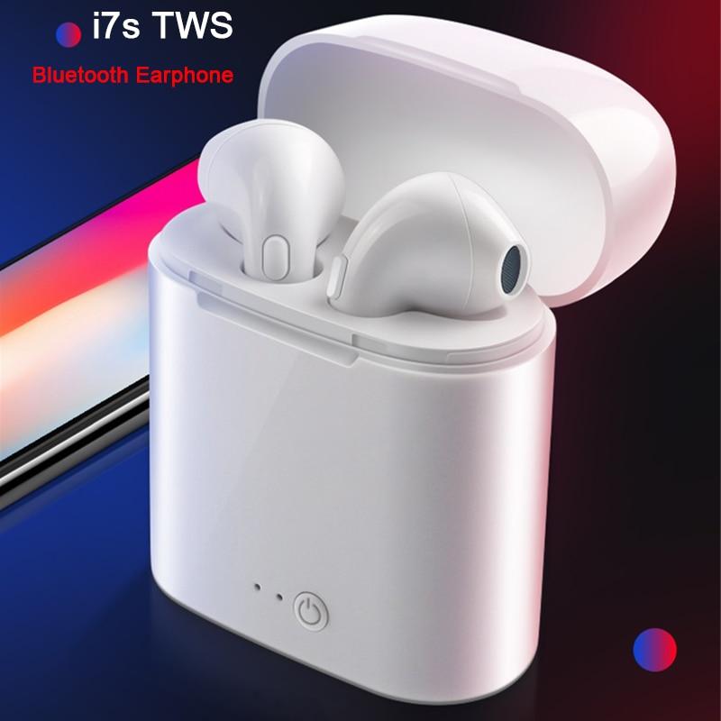 I7s TWS Mini Wireless Bluetooth Earphone Headphones Mic For Iphone Xiaomi All Smart Phone I10 I12 Stereo Earbud Headset