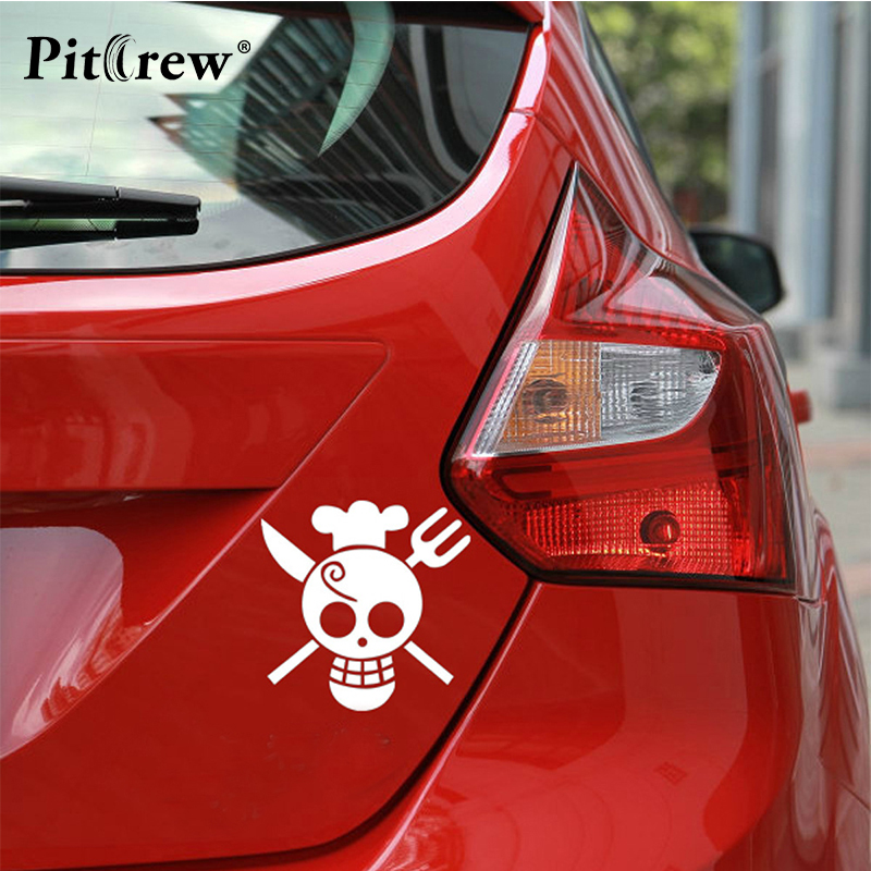 1PC 11*11cm High Quality Pirate One piece Skull Car Styling Vinyl Wall Stickers and Decals Accessories for Car Fashion Stickers