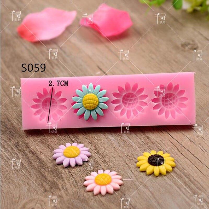 1pcs Beautiful Flowers Silicone Mold Fondant Mold Cake Decorating