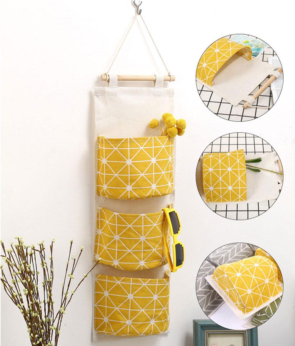 Cute Wall Sundry Cotton Line Hanging Organizer Bag Multi-layer Holder Makeup Rack Jewelry Storage Box Basket Home Decoration (6)