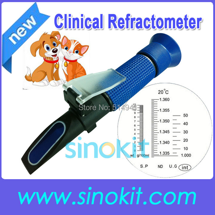 Free Shipping Hospital Clinical Cat and Dot Plastic Hand refractometer P-RHC-200 blue grip