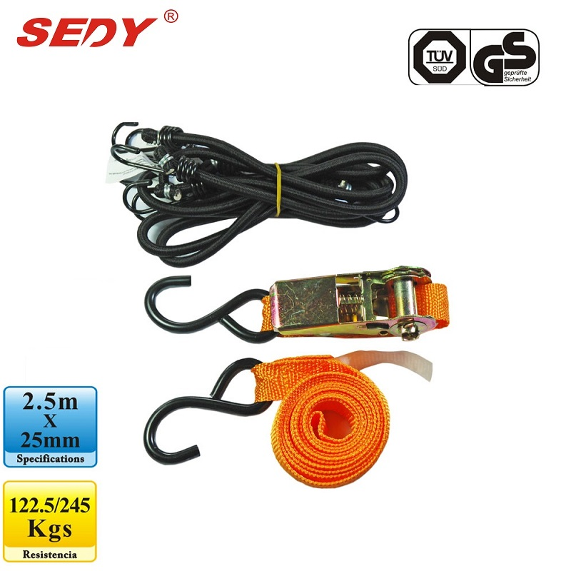SEDY Cambuckle Tie Down Straps 2.5m x 25mm Ratchet Strap Retractable Adjustable Belt Ropes Cord 97105 tie down straps 5m x 25mm ratchet strap retractable adjustable belt ropes cord