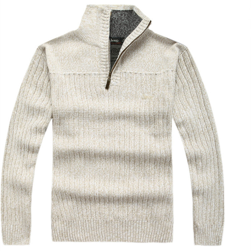 Brand white Mens Sweaters Winter Epaulet Agasalho Masculino Wool Cotton gray Sweater pullovers coat New Size M-XL A0106