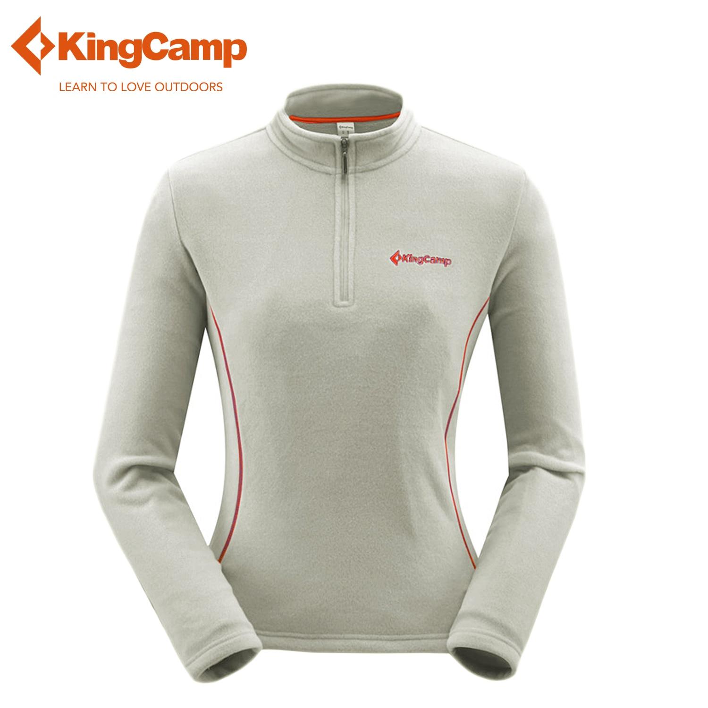 KingCamp Womens Sportswear Front-Zip Sweater Outdoors Lightweight Fleece Jacket Skiwear Thicken Polartec Fleece Pullover 7 Color