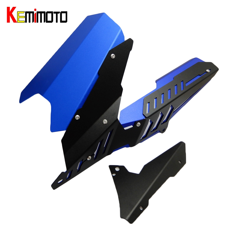 KEMiMOTO R3 R25 MT03 MT-03 CNC Rear Fender Mudguard & Chain Guard Cover Kit for YAMAHA YZF R25 R3 2013 -2016 MT-03 2015-2016 yzf r3 yzf r25 rear fender cover splash bracket chain guard cover kit for yamaha yzf r3 r25 2013 2016 mt25 mt03 2015 2016 2017