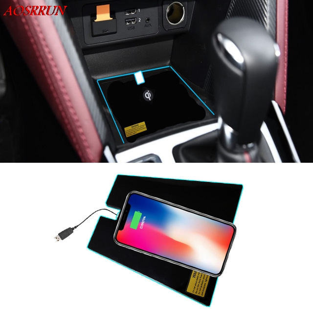 Special QI wireless phone charging Pad Panel Car Accessories fit For <font><b>Mazda</b></font> <font><b>CX</b></font>-<font><b>3</b></font> CX3 <font><b>cx</b></font> <font><b>3</b></font> <font><b>2017</b></font> 2018 car accessory image