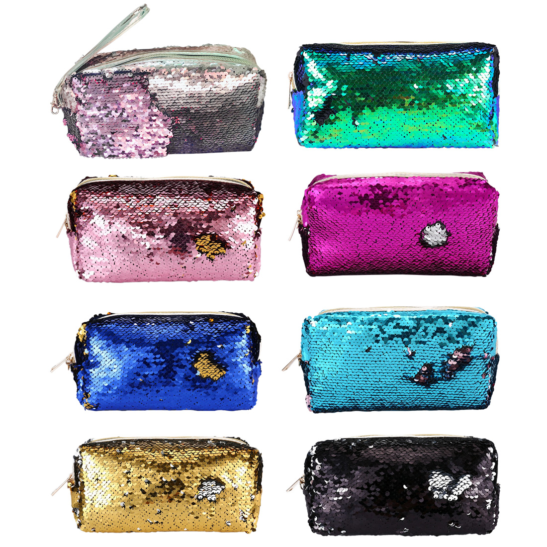 New High Quality Glitter Mermaid Sequins Laser Cosmetic Bag Fashion Student Sequin Pencil Case Ladies Coin Purse Storage BagsNew High Quality Glitter Mermaid Sequins Laser Cosmetic Bag Fashion Student Sequin Pencil Case Ladies Coin Purse Storage Bags