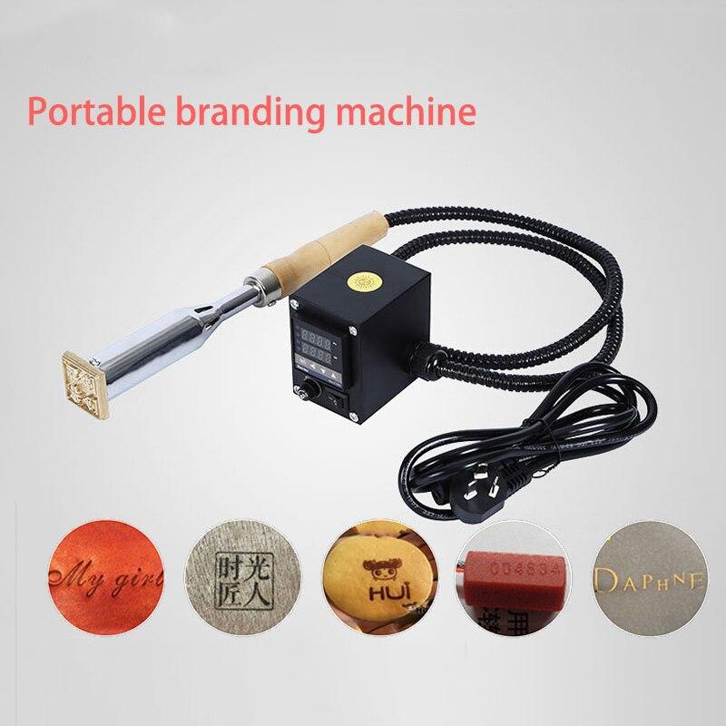 300 W poignée électrique fer gâteau marque chaude feuille timbre presse gaufrage machine impression logo marque électrique fer à souder