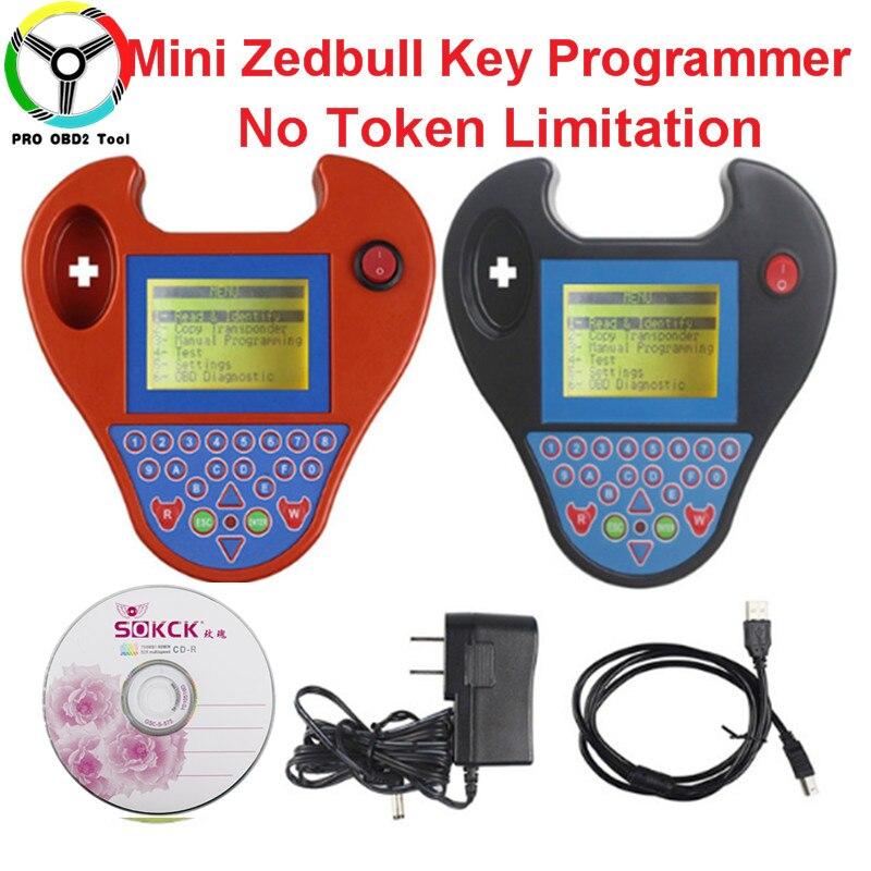 2018 Super Mini ZedBull Key TranspoderNo Tokens Limited Smart Mini Zed bull V508 Key Programmer Multi-Language Can Read Pin Code
