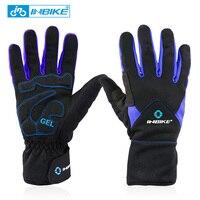 INBIKE Winter Thermal Bike Gloves Windproof Motorcycle Mountain Bike Gloves Hiking Mtb Full Finger Cycling Gloves for Men Women