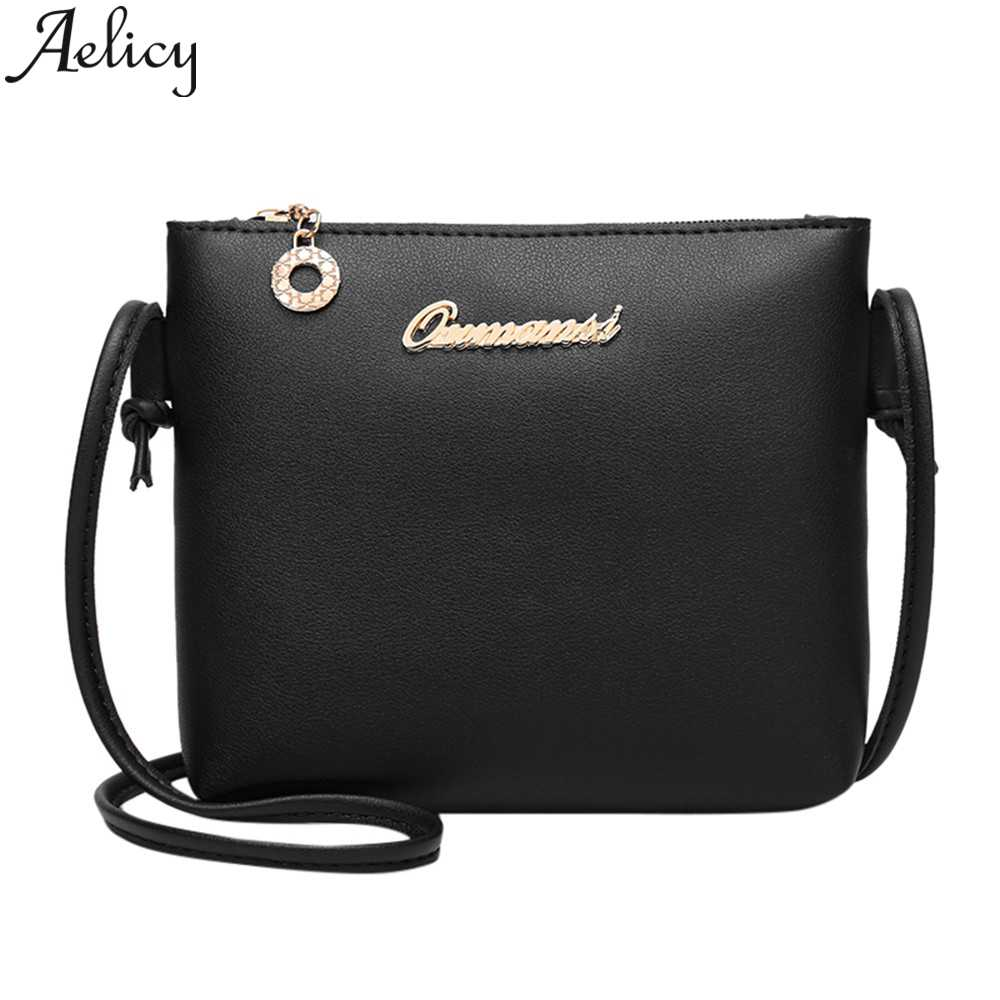 Aelicy Women 2019 Fashion Solid Color Leather Crossbody Shoulder Bags Messenger Bags Coin Bag Mobile Phone Bag Crossbody