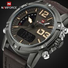 Nouveau Luxe Marque NAVIFORCE Hommes Horloge Mâle Militaire Montres Hommes de Quartz Analogique Led Numérique Sport Montre-Bracelet relogio masculino
