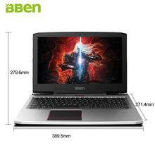 BBEN G16 15.6″IPS Gaming Laptop Windows10 Intel I7-7700HQ Quad Core NVIDIA GTX1060 DDR5 6G Memory 16G Ram 256G SSD 2THDD Option