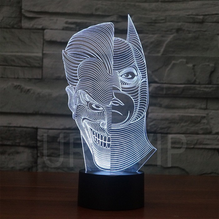JC-2835  Amazing 3D Illusion led Table  Lamp Night Light with double face shape   (7)