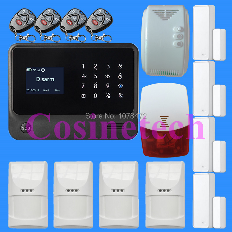 WiFi Alarm System GSM GPRS SMS Home Security Alarm System IOS ANDROID APP Controlled burglar alarm system for home secure new product wifi alarm system gprs gsm alarm systems security autodial home security alarm system ios android remote control