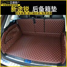 Ajuste personalizado pu couro tapete mala do carro tapete de carga para volkswagen touareg 2011 2012 2013 2014 2015 2016 2017 5d forro de carga
