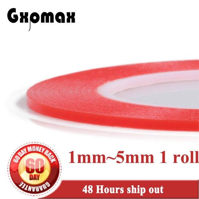 GXPMAX (1mm ~ 1.5mm ~ 2mm ~ 5mm) elegir 25 M/Roll cinta adhesiva acrílica de dos lados fuerte para Huawei Samsung teléfono móvil tableta pantalla LCD