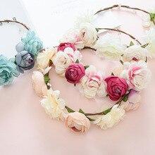 19 Years Handmade Flower Ring Colored Hair Hoop New Summer Bride Headwear Tourist Headband Jewelry