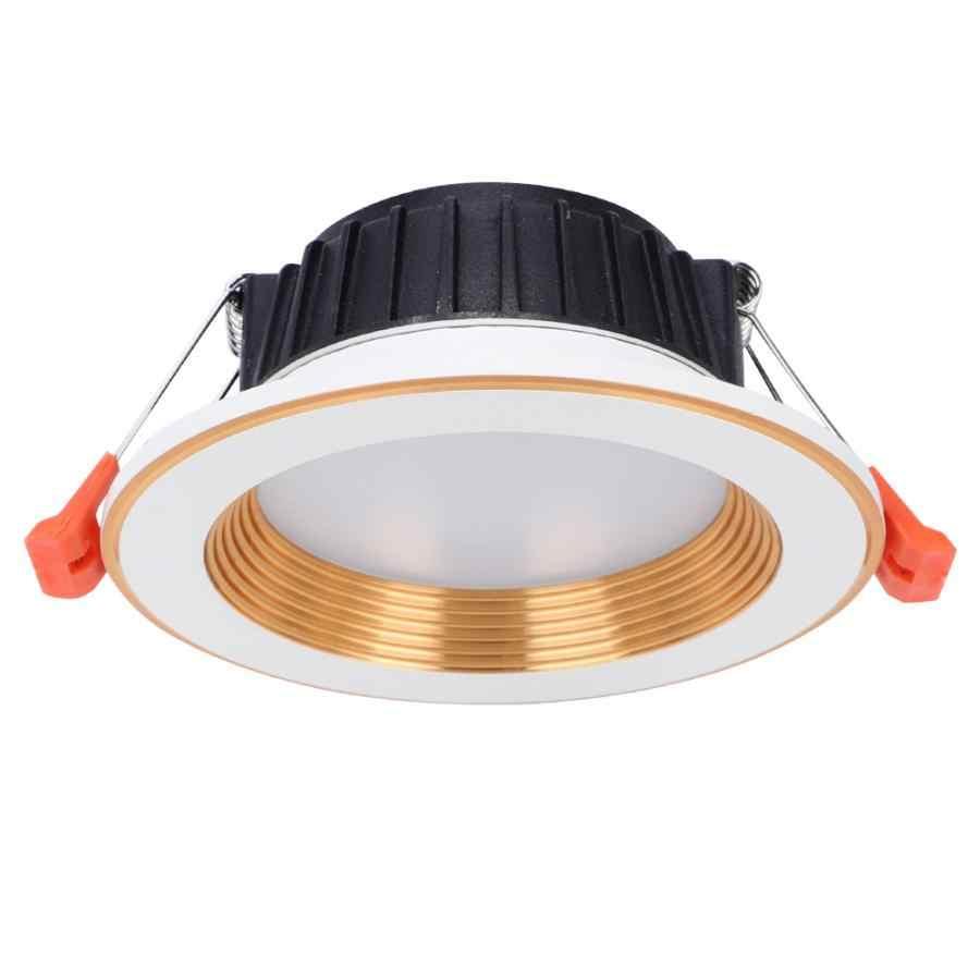 Wifi LED ライトゴールドリング RGB CW Wifi スマート Led ライト電話の App コントロール天井マウントランプ 7 ワット AC85-265V