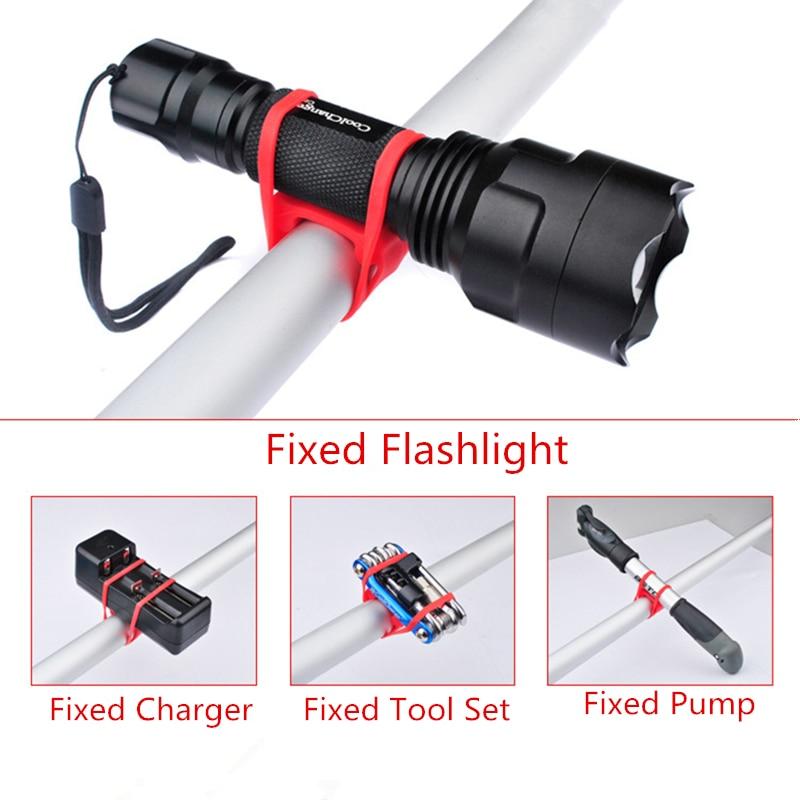5 Color Rubber Bicycle Flashlight Mount Holder Elastic Bundle Cycling Equipment Gadget Mounting Bracket Holder Of A Bike Lantern