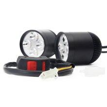 Пара 4 * U2 CREE LED чип 36 Вт 3600 люмен Водонепроницаемый светодиодный свет мотоцикл светодиодные фары месте головы свет Дополнительная лампа с коммутатором