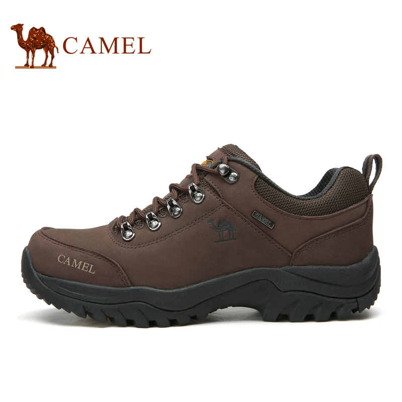 CAMEL Men Outdoor Sports Hiking Shoes Leather Anti-skid Shock Absorption Breathable Comfortable Camping Hiking Trekking Sneakers camel men summer air mesh outdoor hiking shoes breathable shock absorption lightweight walking climbing excursion sneakers
