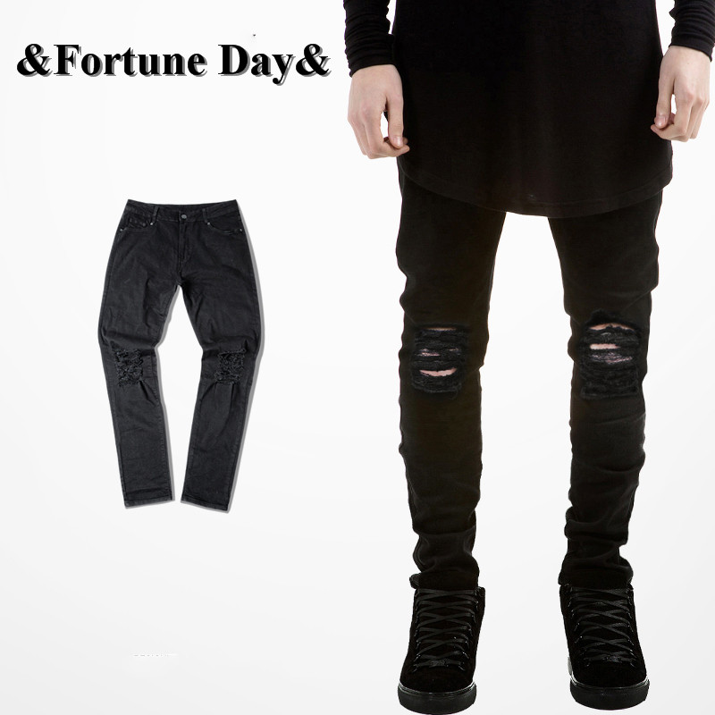 Compare Prices on Man Skinny Black Ripped Jeans- Online Shopping ...