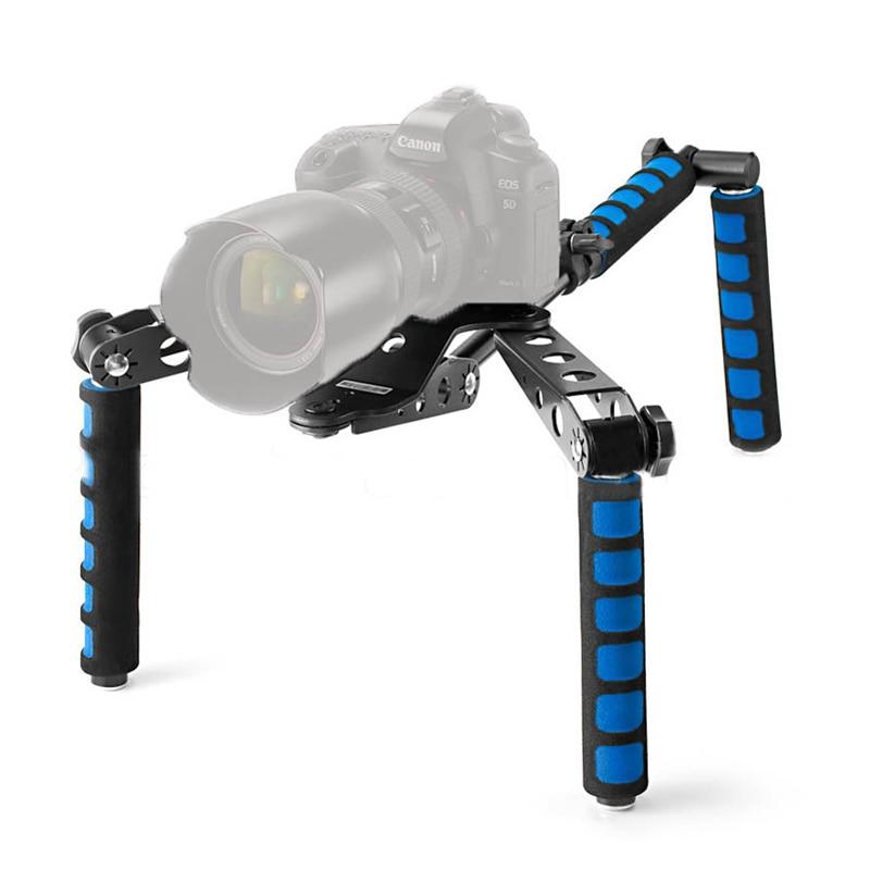 Для цифровой зеркальной камеры комплект для видеосъемки на плечо Крепление-стабилизатор для видеосъемки Камера Canon 5D II III 550D 60D 6D T2i T3i 7D Nikon D800 D810 D90 D7100