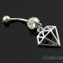 Bluelans 14 Gam Warp hình dạng Anodized Titanium Belly Button Navel Nhẫn Stud(China)