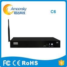 Controlador de vídeo colorlight c6 suporte de caixa de reprodutor de vídeo colorlight 5a i5a i5a-f 5a-75b 5a-75e receptor