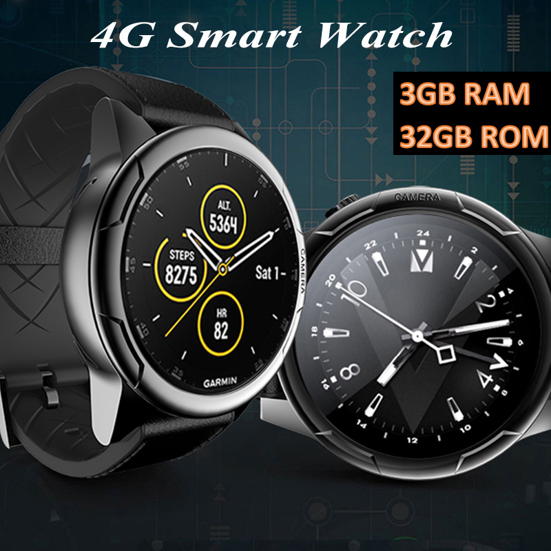 2019 KINYO d'origine smart watch 4G 3 GB RAM + 32 GB ROM MTK6739 smartwatch soutient carte sim gps montre pour homme pk zeblaze thor 4 double