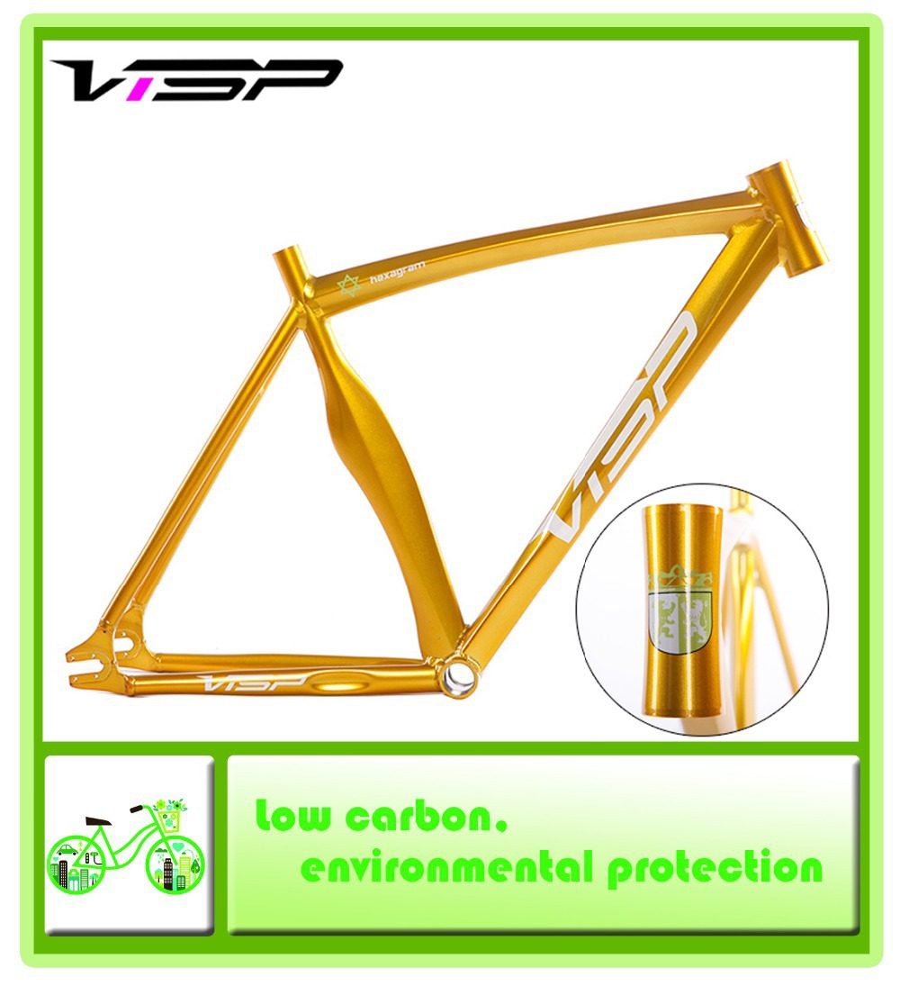 the new visp fixed gear bicycle frame road bike aluminum frame 700c 4852