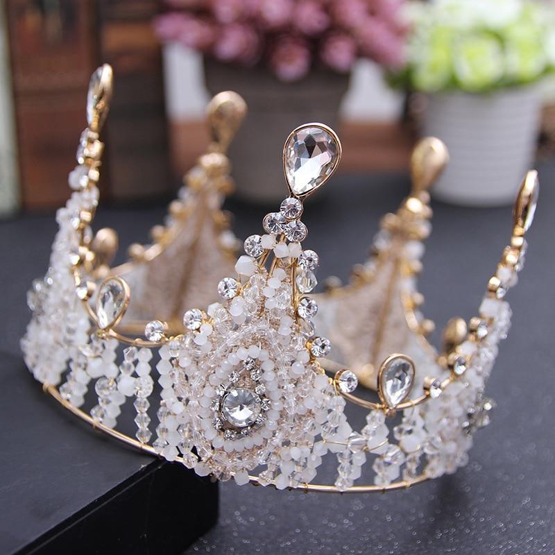Раинья Rei cocar De Noiva тиара Coroa Para как Mulheres делать Baile de finalistas nupcial диадемы e coroas De Casamento acessórios