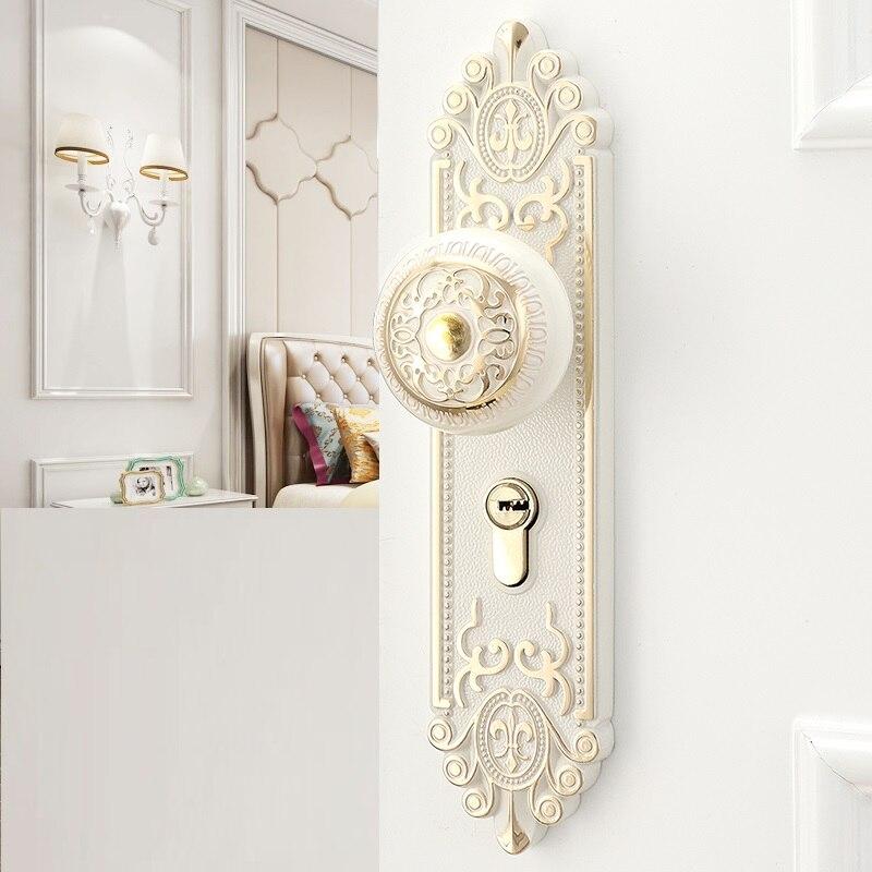 Nuodeli nouveau Design rétro intérieur porte serrure muet européen chambre poignées pour portes maison chambre solide serrure avec poignée de porte