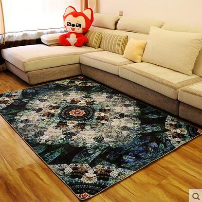 European Style Retro Blume Teppich Wohnzimmer Tisch Matte Super  Weichkorallen Fleece Wohnzimmer Teppich Kinder Schlafzimmer Mat