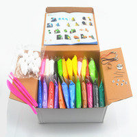 NEW 24colors 24pcs Soft Polymer Modelling Clay Set Box With Tools Good Package FIMO Effect Blocks