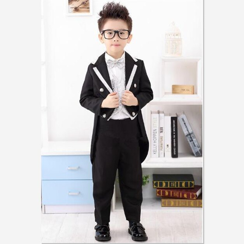 coat pants swallowtail kids suit boys wedding party dress sets children wedding for