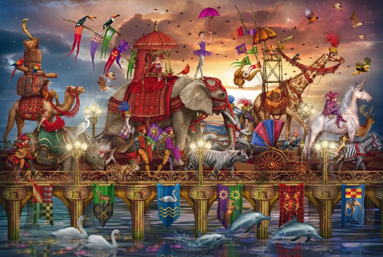 Circus The wooden puzzle 1000 pieces ersion paper  jigsaw puzzle adult children's educational toys virgo the wooden puzzle 1000 pieces ersion jigsaw puzzle white card adult heart disease mental relax 12 constellation toys