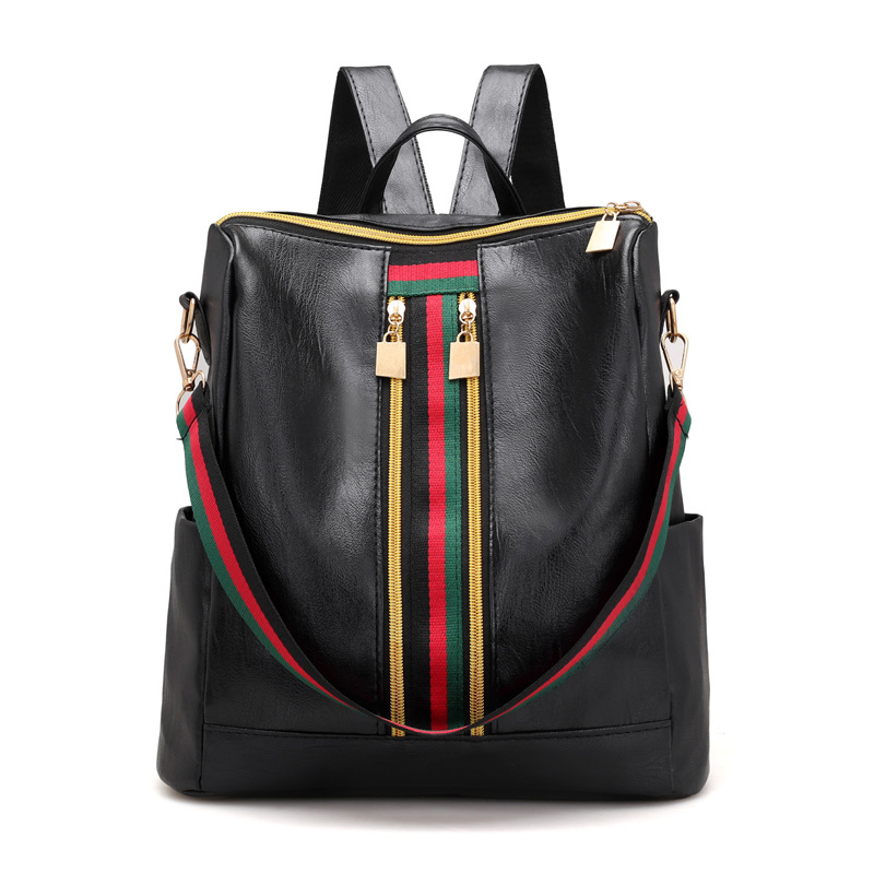 Soft PU Leather Backpack Women  Vintage College Girls Student School Bags  Mochila Casual Travel Female Rucksack Backpack chic canvas leather british europe student shopping retro school book college laptop everyday travel daily middle size backpack