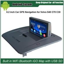 6.2 дюймов Android емкость Сенсорный экран автомобиля медиаплеер для Volvo S40, C30, C70 GPS навигации Bluetooth видео плеер