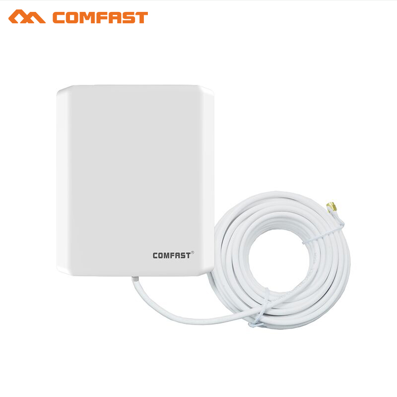 10pcs Comfast SMA WiFi Antenna Outdoor Wireless Wi fi Adapter Long Distance Booster Extender 10dBi antenna router with 10m line
