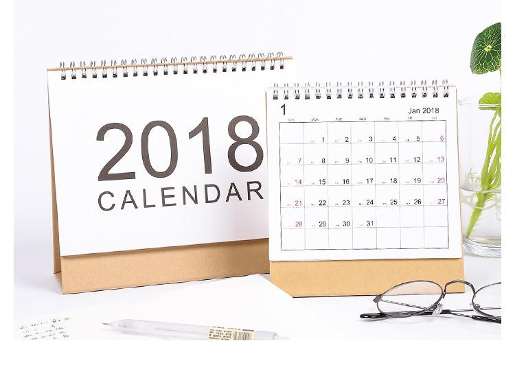 Calendar Notebook Design : Aliexpress buy  table calendar basic coil